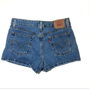 Levi's Denim High Waist Shorts Size 7 jr 29 waist